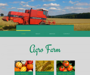 Agro Farm  Css3Template Downloads: 159