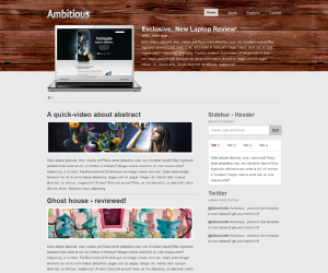 Ambitious Wood  Css3Template Downloads: 23