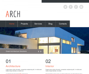 Arch Css3 Template Downloads: 987