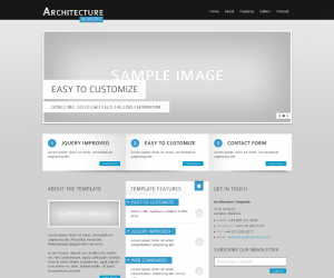 Architecture  Css3Template Downloads: 41