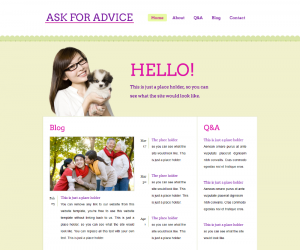 Ask For Advice Css3 Template