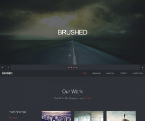 Brushed  Css3Template Downloads: 95