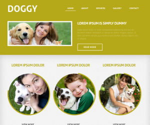 Doggy Css3 Template Downloads: 469