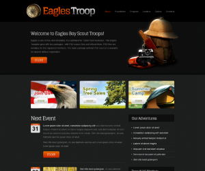 Eagles Troop  Css3Template Downloads: 190