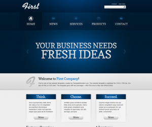 First Business Css3 Template