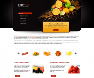 Fruit Art Css3 Template