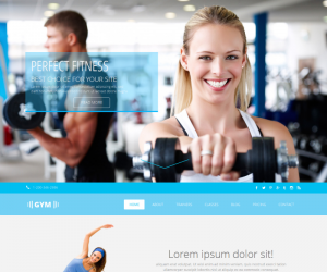 Gym Css3 Template Downloads: 606
