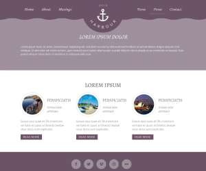 Harbour  Css3Template Downloads: 67