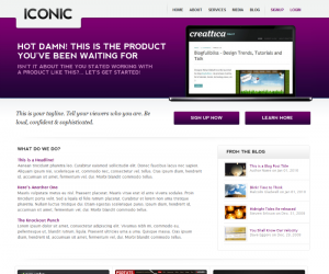 Iconic  Css3Template Downloads: 66