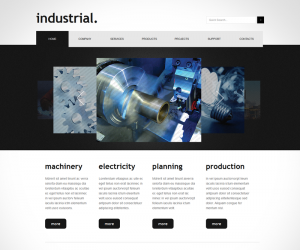 Industrial Css3 Template