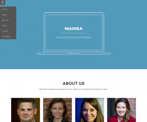 Mamba  Css3Template Downloads: 60