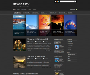 Newscast  Css3Template Downloads: 310