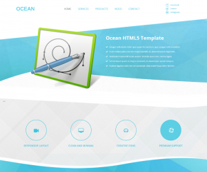 Ocean  Css3Template Downloads: 161