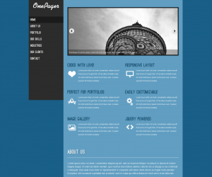 OnePager Css3 Template