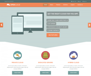 Opencloud Css3 Template Downloads: 198