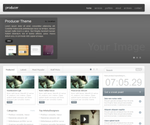 Producer Css3 Template