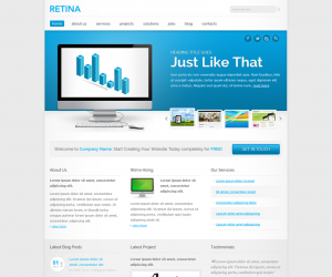 Retina Css3 Template