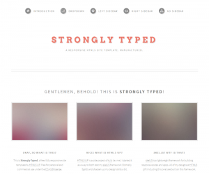 Strongly Typed  Css3Template Downloads: 37