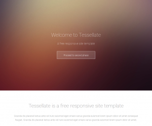 Tessellate Css3 Template