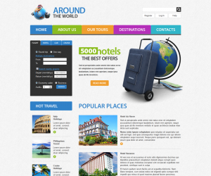 Travel Web  Css3 Template