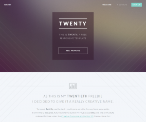 Twenty Css3 Template