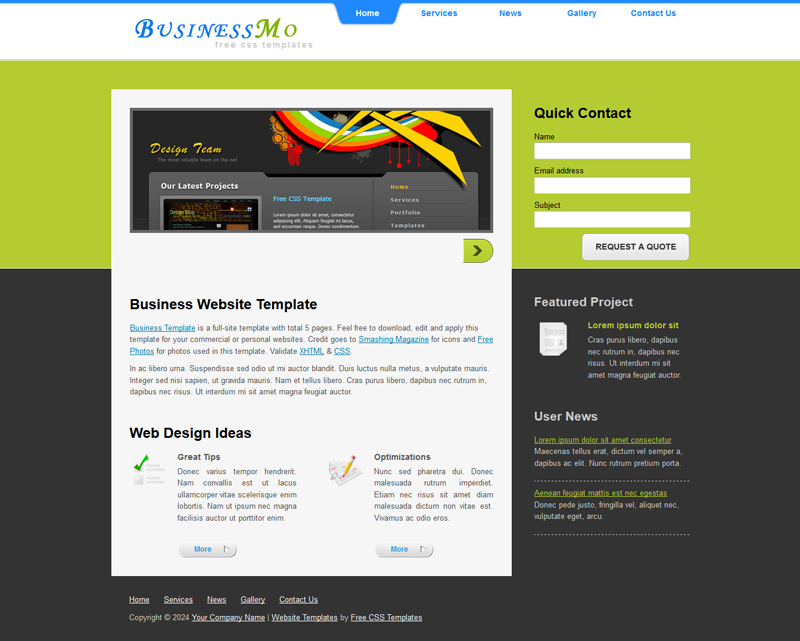 Free template business website business website wajeb Choice Image