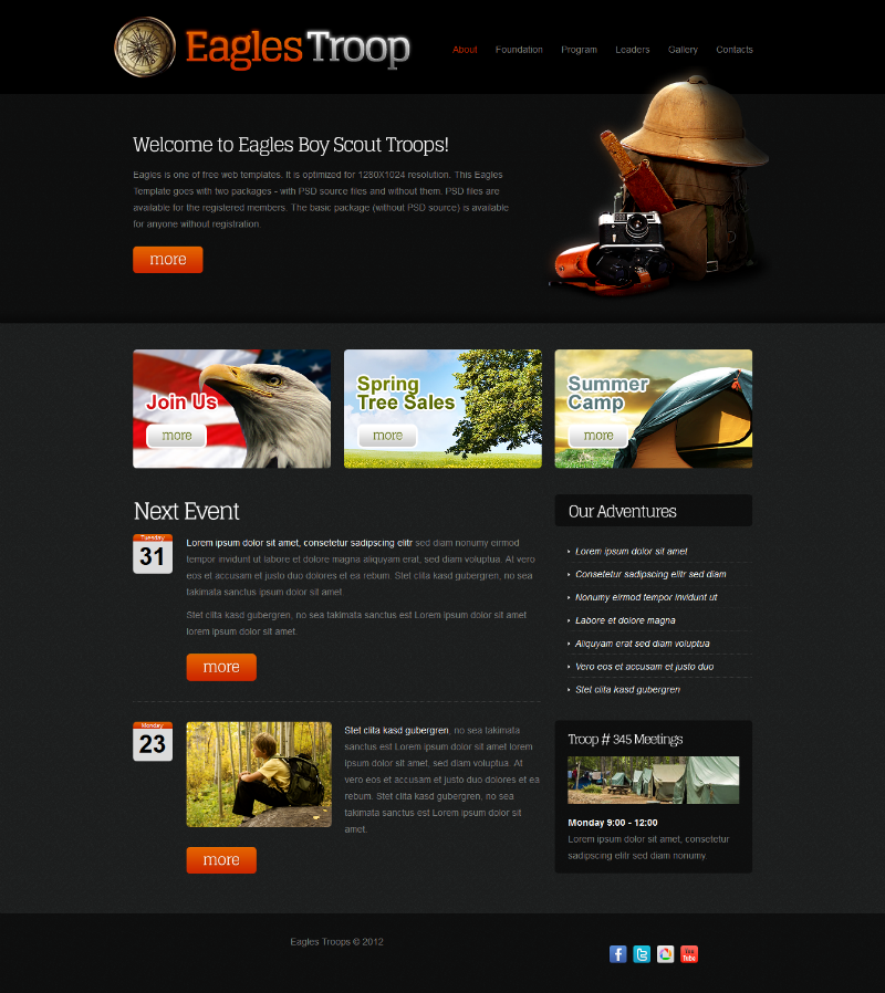 Html 5 and css web designs and website layouts, free web templates