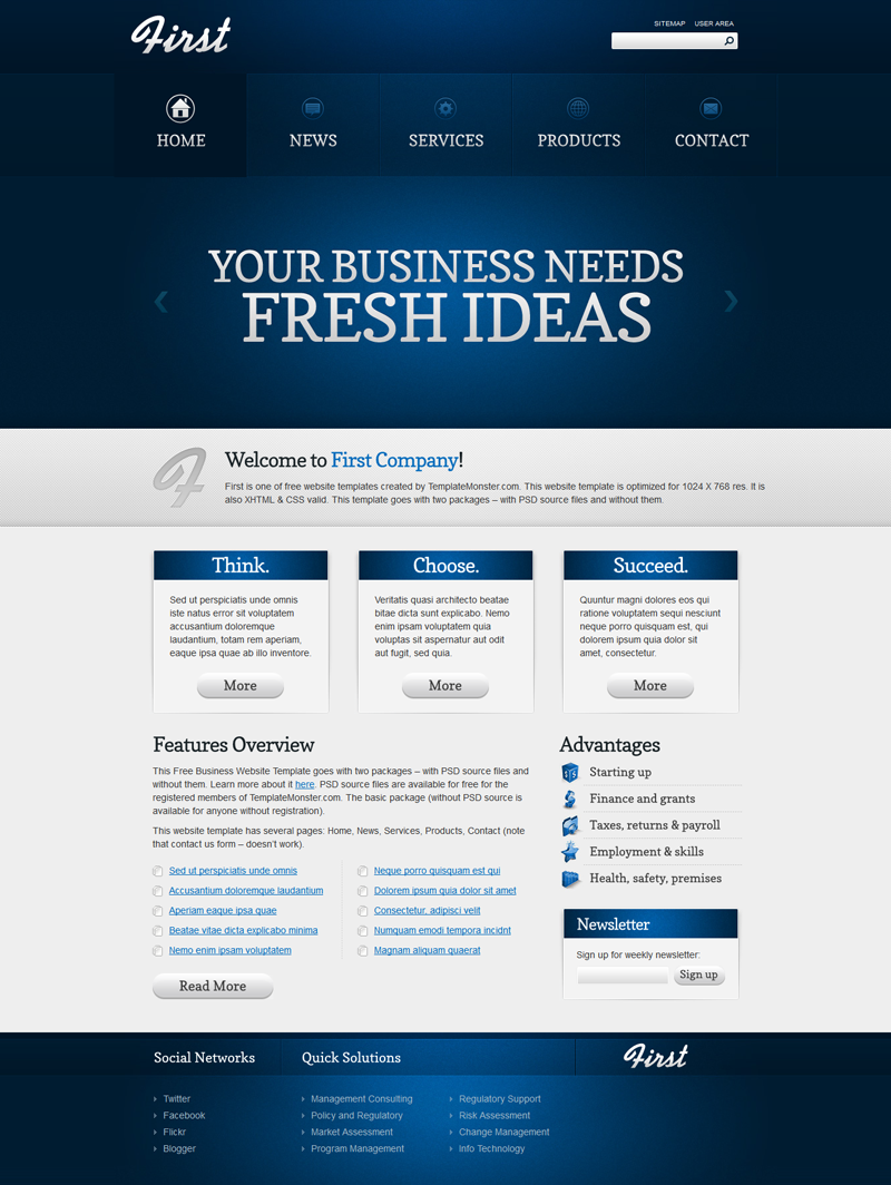 Free template first business first business flashek Gallery