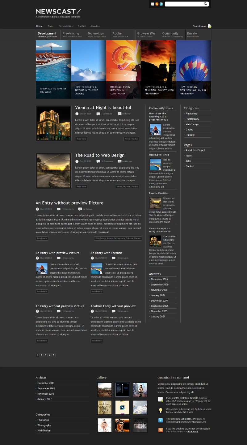Download Free CSS Templates - Free Jquery Templates ...